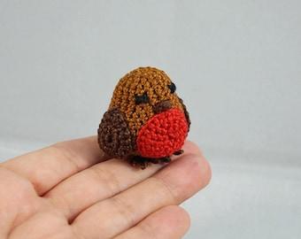 Mini Crocheted Robin