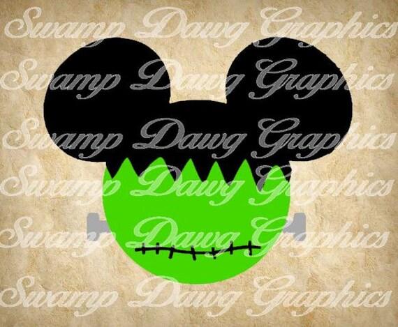 Frankenstein Mickey Svg Halloween Svg Halloween Mickey Svg