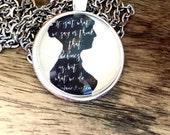 Jane Austen Silhouette Pendant Necklace