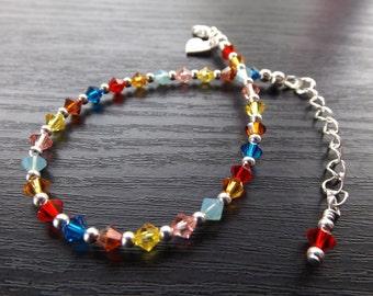 Multicolour Swarovski Bracelet