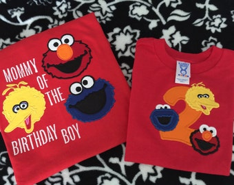 Sesame Street theme tshirt with Custom Name and/or Number