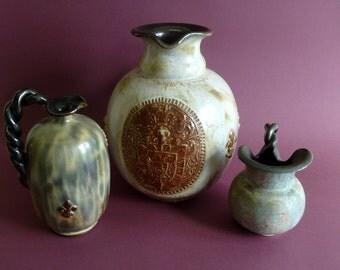 3 Art deco jugs-vases Guerin