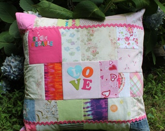 Baby Clothes Memory Quilt Pillow