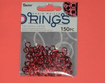 Red Darice Aluminum Jump Rings    150 pcs    (7.25mm)   Supply