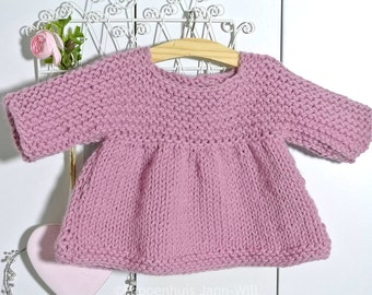 Knitted Dress Waldorf Doll 16 inch, very soft!