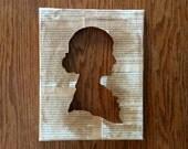 Jane Eyre Sepia Silhouette Canvas