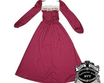 Vintage burgundy wine Goth Victorian dress