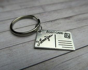 I love you postcard | Keyring