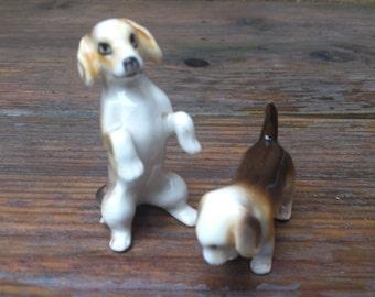 vintage china Beagles