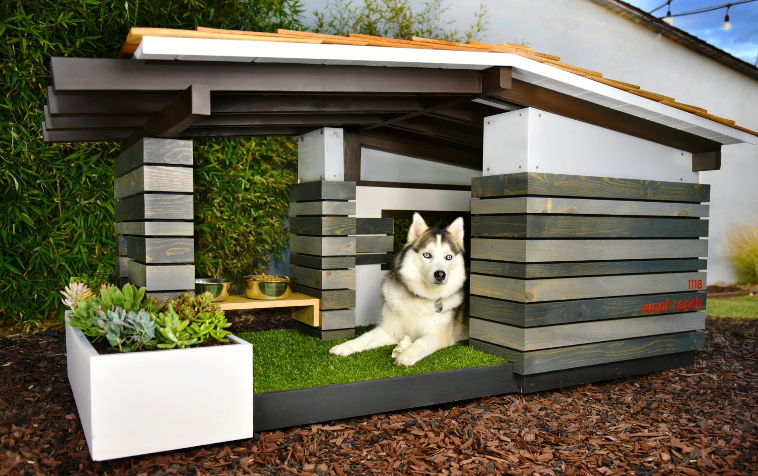 building a modern dog house made remade modern dog house ideas  - modern dog house mid century ranch
