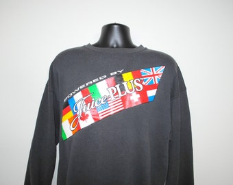 1993 Juice Plus+ Vintage 90's Health Nut Nutritional Supplements Company Promo Sweatshirt
