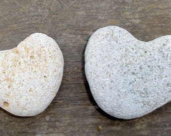 2 Pcs Heart Shaped Beach Stones Sea Rocks Natural Love Day Gift Israel Wedding marriage romantic gift