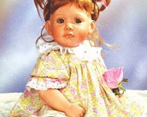 """10"""" - 11"""" Auburn Monique Doll Wig, """"Tess"""" fits American Girl Dolls, Modacrylic, Light Strawberry Blonde Color, Several Sizes Available, New"""