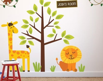 Childrens Jungle Safari Theme Wall Sticker Decal