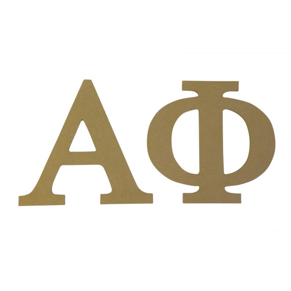 alpha phi omega letters alpha phi 7 5 unfinished wood letter set 9117