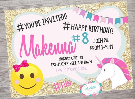 Justice Emoji birthday party invitation. printable. digital