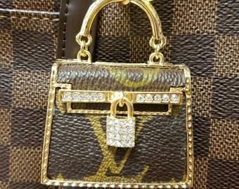 Handmade purse charm LV