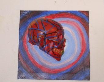 Skull inspired by Alex Grey