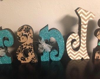 Custom wood letters. Wood letters. Nursery letters. Wedding letters. Home letters.