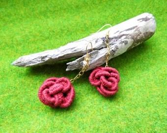 Textile Art Earrings, Lace Vintage Earrings, crochet Earrings, Fiber Art Jewelry, Party Jewelry Gift, Valentines Day