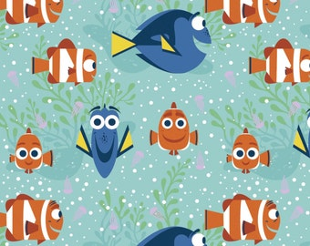 Finding Dory Cotton Fabric by Springs Creative!  [Choose Your Cut Size]