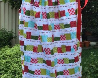 Girl's Christmas Handmade Dress sizes 1, 2, 3, 4, 5, 6 & 7