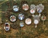 Custom listing for Sarah - brass pendants