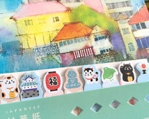 lucky cat luck sign sticky note cute cat Japan theme stick marker buddha paper fan Business Agenda sticky memo diary index paper gift