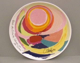 """Rosenthal artist-plate no. 7 (1975). Bjorn Wiinblad - """"Even the shadows come from the Sun"""" - limited: 3084 / 5000. Collectible. VINTAGE"""