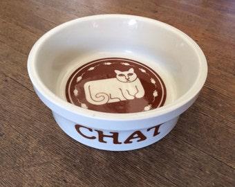 Chat Taylor And Ng Ceramic Cat Food/Water Bowl