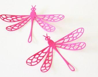Dragonfly home decor - Pink Nursery wall art - Dragonfly wall art - Pink decor - Pink baby shower decorations - Dragonfly decor