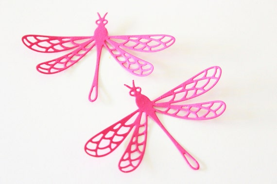 Dragonfly Nursery Wall Decor : Dragonfly home decor pink nursery wall art by mydreamdecors