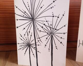 Hand Drawn Flowers Greeting Card