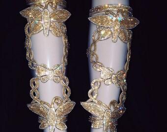Rhinestone Dance Leg pieces 1 pair