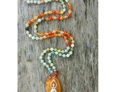 Fire & Ice - hand knotted Mala