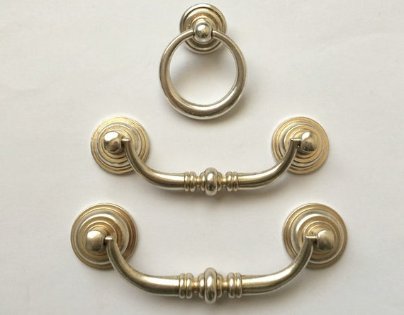 drop drawer pull knob ring handles knob antique silver kitchen cabinet
