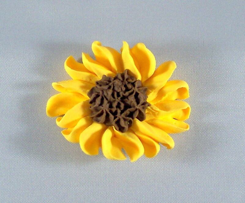 Sunflower Sugar Cake Decorations