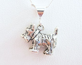 Scottish Terrier Large Pendant Charm and Necklace