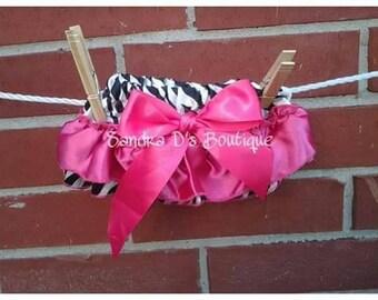 Zebra/pink bloomers