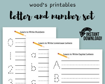 Practice Writing PDF Printable; Letter Tracing, Handwriting Learning, Preschool, Learning to Write, Writing Aid, Busy Book, Homeschool