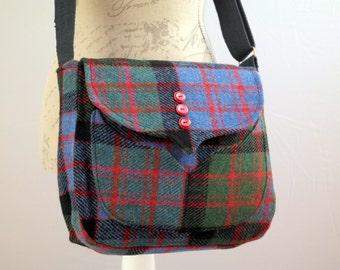 Myrtle - MacDonald Tartan Harris Tweed cross-body bag
