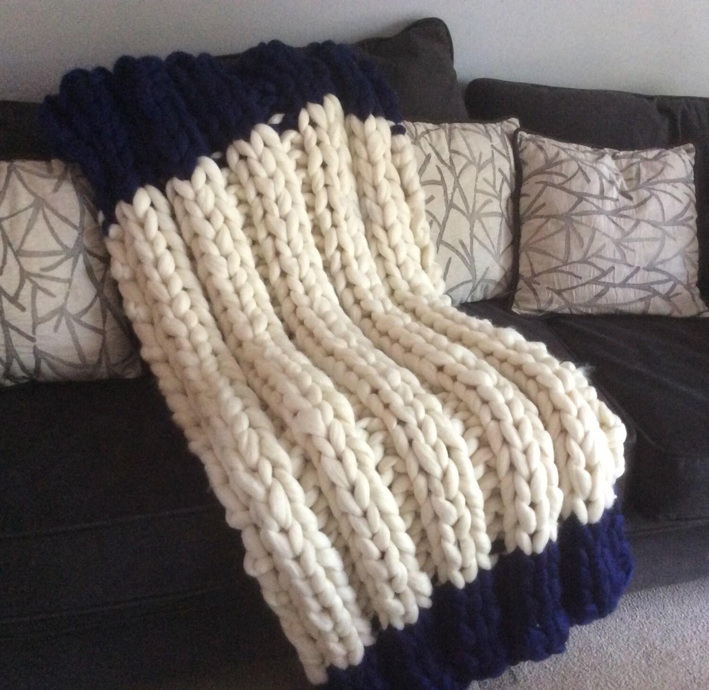 Chunky Yarn Knit Blanket Pattern : KNIT-KIT,PARFAIT BLanket Choice! Chunky Blanket, 24 Needles,Chunky Yarn, Pattern