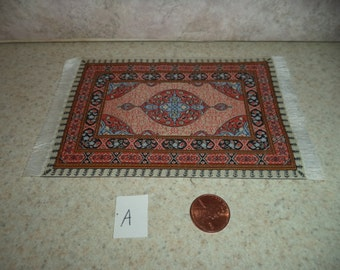 1:12 scale Dollhouse Woven Turkish Rug