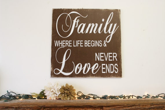 Download Family Where Life Begins And Love Never Ends Wood Sign Vintage