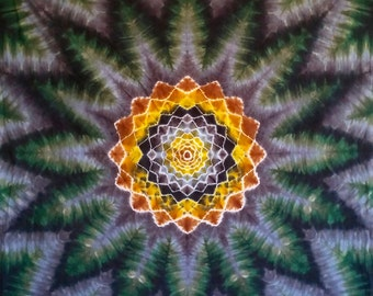 Tie Dye Mandala Tapestry!