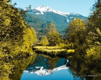 Whistler Photograph, Landscape Photography, British Columbia, Canada Landscape, Nature Photography, Reflection, Lakeside, Whistler Wall Art