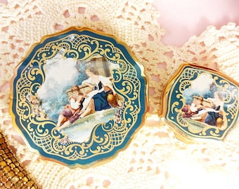 Stratton Compact and Pill Box