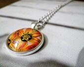 orange floral pendant