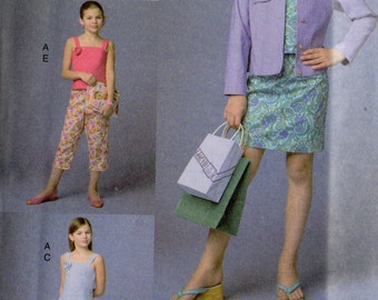 JACKET TOP SKIRT Pants Vogue Girl Pattern 7870  Girls' Sizes 7 8 10