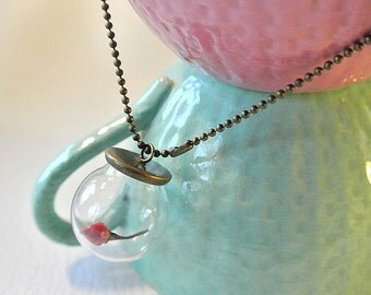 Bubble necklace with rose